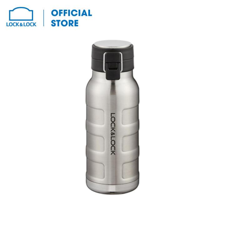 Bình giữ nhiệt bằng thép không gỉ Lock&Lock Bumper Bottle LHC4141SLV (470ml - bạc)