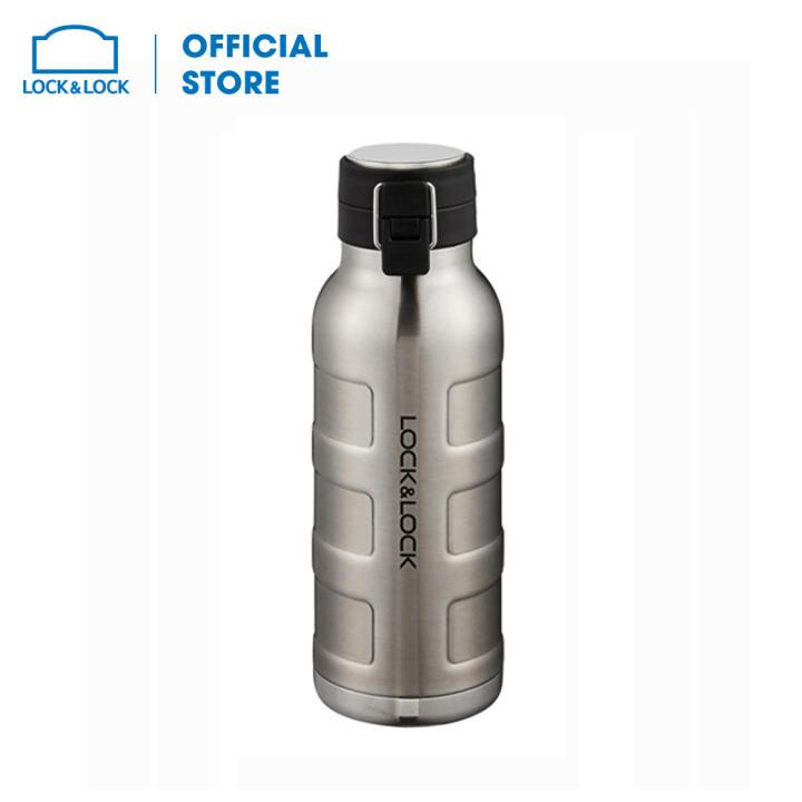 Bình giữ nhiệt bằng thép không gỉ Lock&Lock Bumper Bottle LHC4142SLV (650ml - bạc)